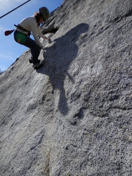 Rock Climbing Photo: Downward facing flake at the start of Unknown 5.9 ...