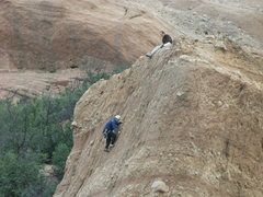 Rock Climbing Photo: Climbers on Briscoe County Boulder.