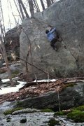 Rock Climbing Photo: Aformentioned Classic V4 right off champlin rd.