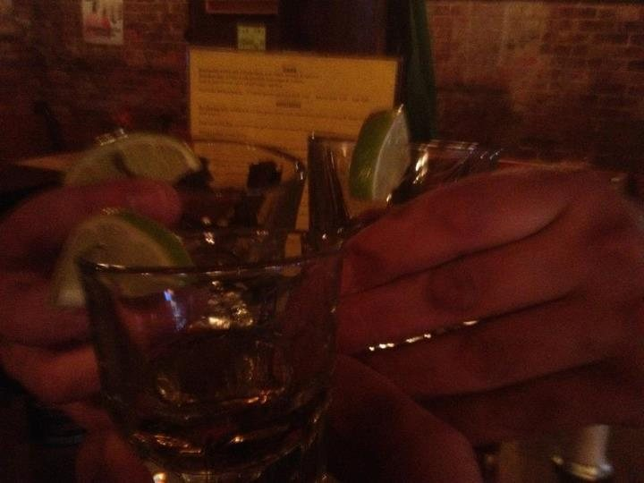 """Tequila at """"The Bacchus"""" after climbing Tequila Mockingbird, 5.7, the Shawangunks, NY"""