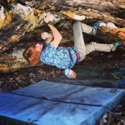 Rock Climbing Photo: Fun/tricky jug haul through a small cave!