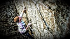 Rock Climbing Photo: In the heart of the crux!