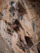 Rock Climbing Photo: Dave taking advantage of the nice ledge rest right...