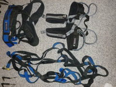 Rock Climbing Photo: Yates gear sling and Big wall harness, Fish 6 step...