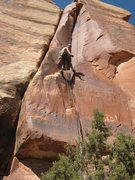 Rock Climbing Photo: rapping down on a nice March day..