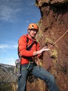 Rock Climbing Photo: Starting up 3rd pitch of Handcracker.