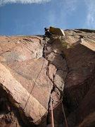 Rock Climbing Photo: Andy firing Handcracker.