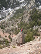 Rock Climbing Photo: High on Green Spur/Rewritten.
