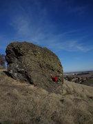 Rock Climbing Photo: Pulling the crux on Last Resort.