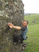Rock Climbing Photo: Gastoning into one of the cruxes of the Tidbit Tra...