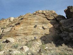 Rock Climbing Photo: Doug Cornick getting his edging skills together.