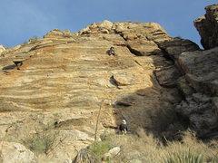 Rock Climbing Photo: Jim on the FA.