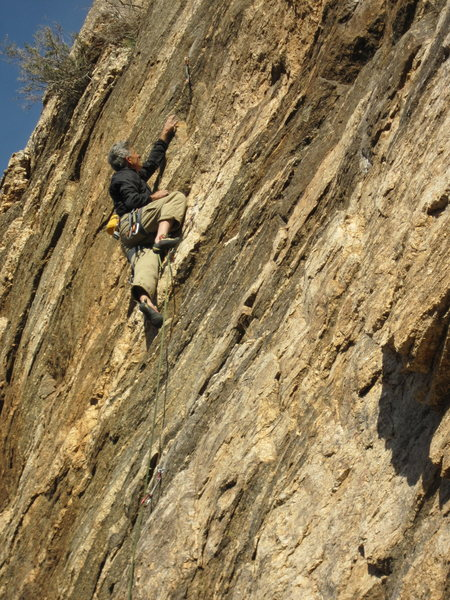 Rock Climbing Photo: Doug attempts to unlock the crux.