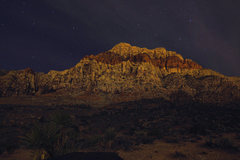 Rock Climbing Photo: Pine Creek Canyon at night