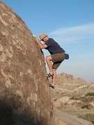 Rock Climbing Photo: Bouldering on the Chocolate Boulder, Culp Valley