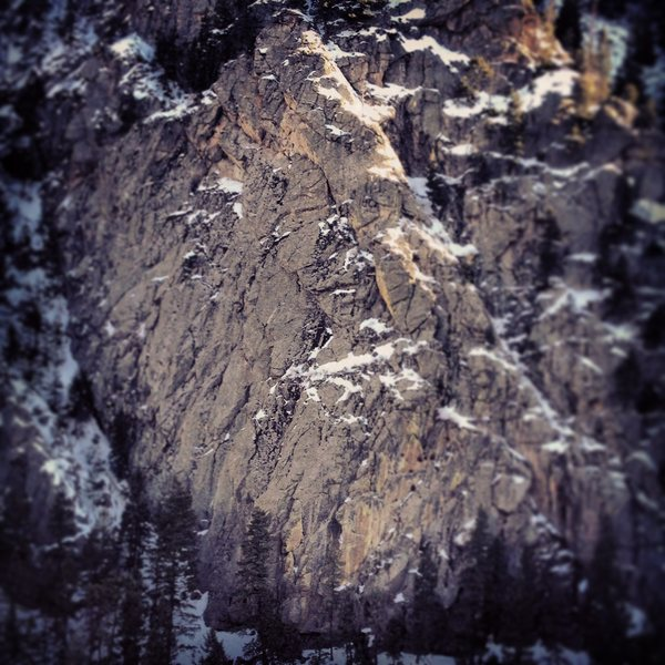 Rock Climbing Photo: Black Widow Slab.