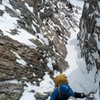 The approach couloir.