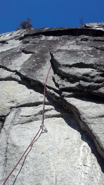Looking at the first pitch of the Upper Zipper (11-).