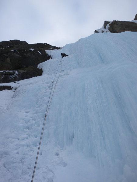 Rock Climbing Photo: Ted Baker leading Silk Tassle.
