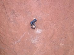 Rock Climbing Photo: First bolt off the belay on P2 (really 3-4). Seen ...