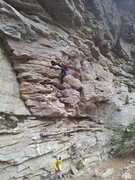 Rock Climbing Photo: all but the last two holds were dry in the rain. f...
