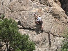 Rock Climbing Photo: Carissa leading the Top Rope Slab route.