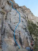 Rock Climbing Photo: Blue marks it.
