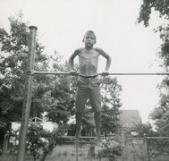 Rock Climbing Photo: JB at age 10.  Skinny little turd could do 30 full...