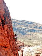 Rock Climbing Photo: Easy climbing but good exposure!