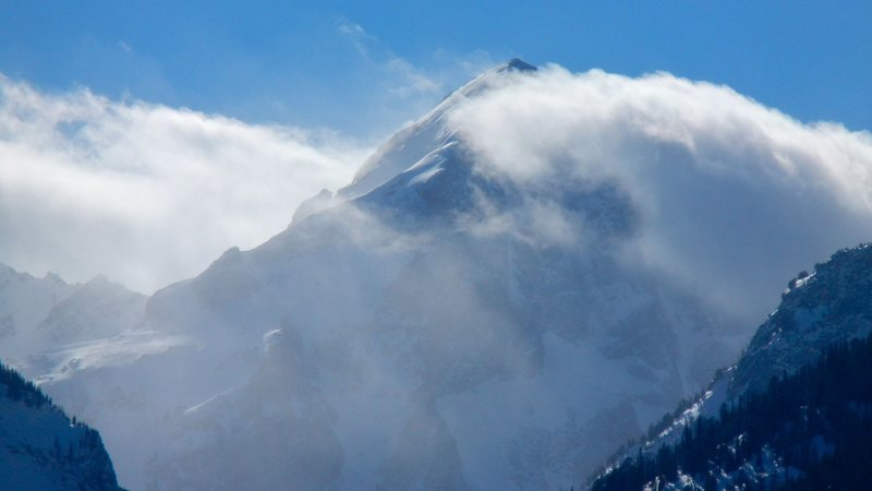 Rock Climbing Photo: Weather moving in on Buck Mountain.