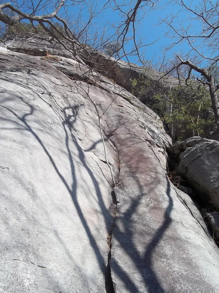 Rock Climbing Photo: Conception; P2 follows left of the large dihedral ...