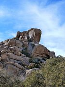 Rock Climbing Photo: Punk Rock (east face), Joshua Tree NP