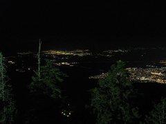 Rock Climbing Photo: Low Desert at night, Tramway