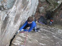 Rock Climbing Photo: Matt cruising up Poison Ivy