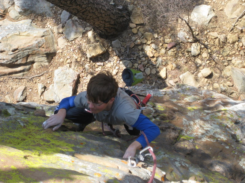 Rock Climbing Photo: Pulling through the overhanging section