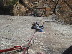 Rock Climbing Photo: Midway through the easy runout section.