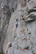 Rock Climbing Photo: Jamming near the top