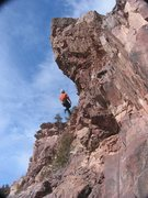 Rock Climbing Photo: RL Climb lowering away from the overhanging turf o...