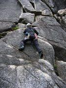 Rock Climbing Photo: Patty Black on Corn Flakes  4 May 2007