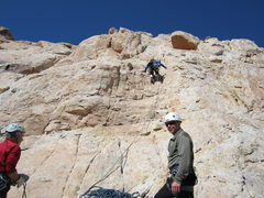 Rock Climbing Photo: Andy on P1