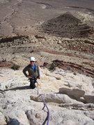 Rock Climbing Photo: Russ top of P1