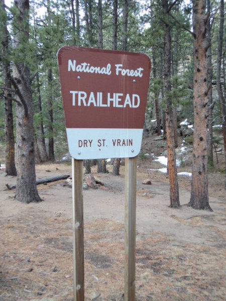 The trailhead sign.
