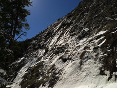 Rock Climbing Photo: Winter conditions on The Slab.