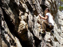 Rock Climbing Photo: Alex H high on HBPP