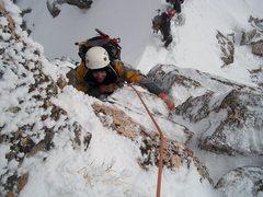 Rock Climbing Photo: seconding rock pitch