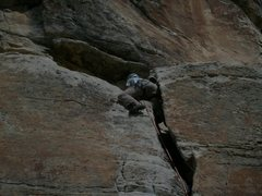 Rock Climbing Photo: bomber #3 stopper down below and then some bigger ...