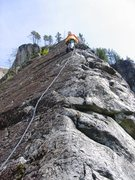 Rock Climbing Photo: First pitch of Star Chek