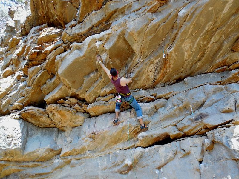 Rock Climbing Photo: Eric hiking up Love Slave