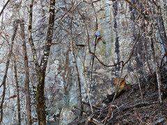 Rock Climbing Photo: Alex H. running up Hackberry at HCR