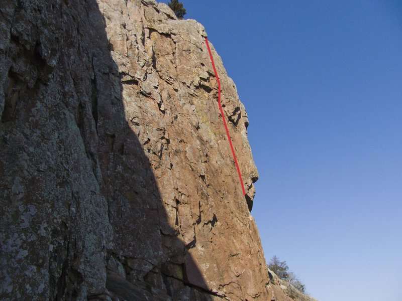 Rock Climbing Photo: Face portion of High Anxiety after you pull out of...